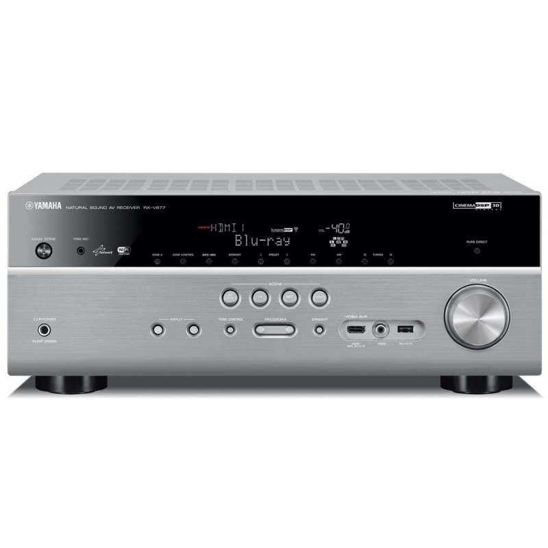 Yamaha rxv 677 7 2 channel home theatre receiver home for Yamaha multi zone receiver