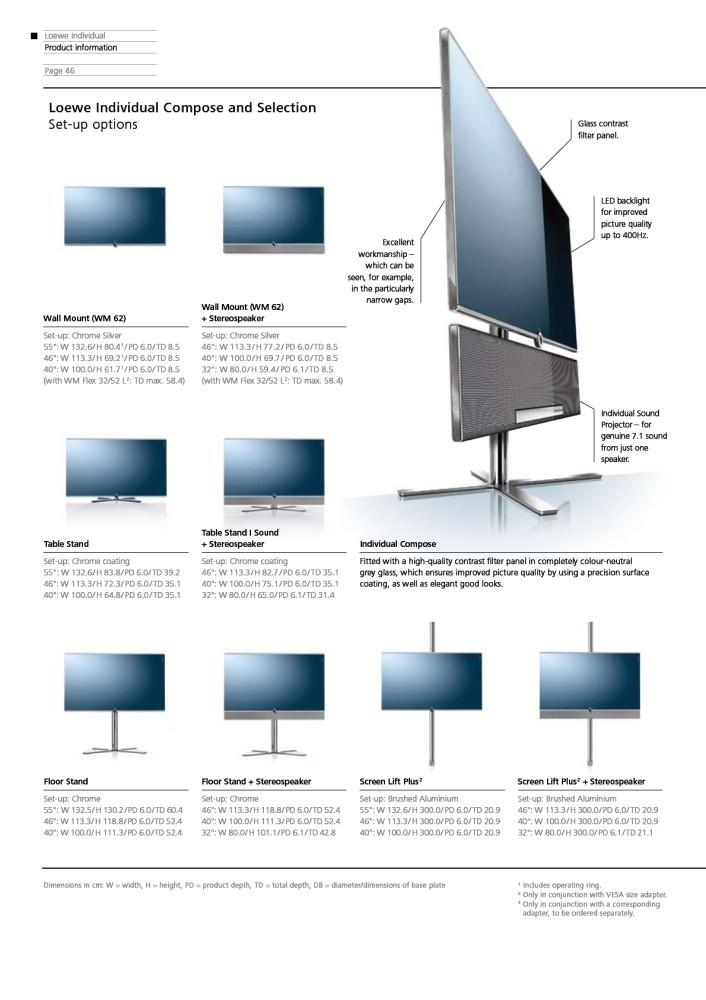 loewe individual 55 compose led tv tv displays at vision. Black Bedroom Furniture Sets. Home Design Ideas