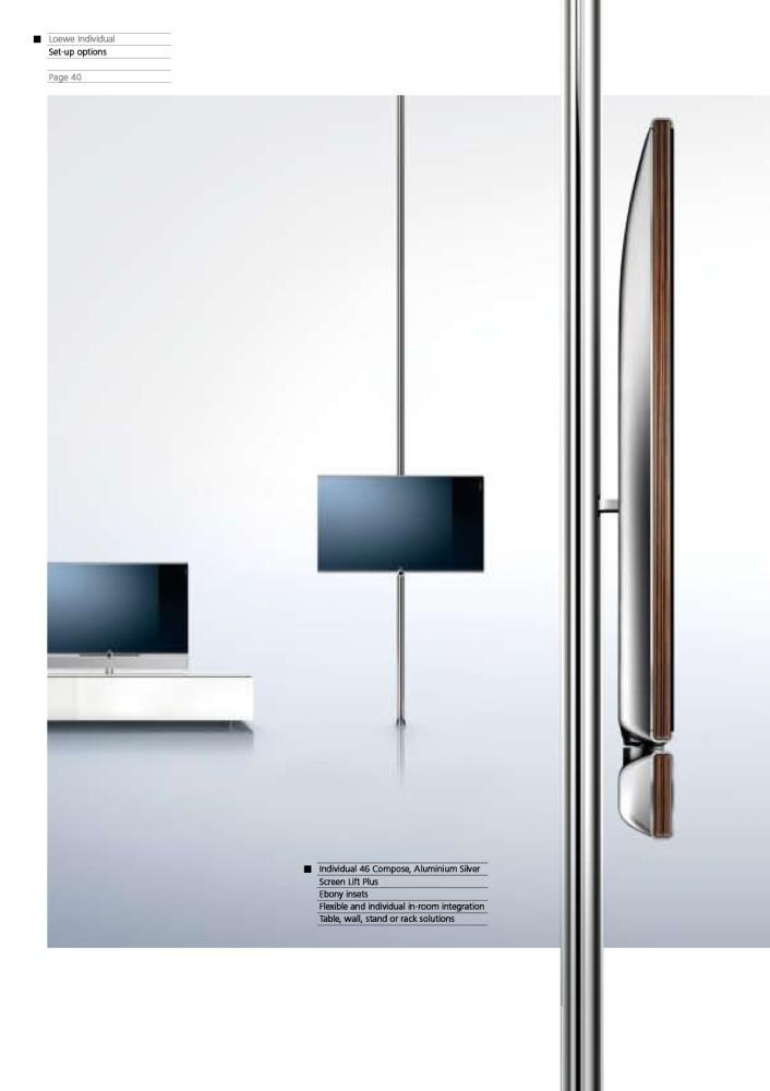 loewe individual 46 compose led tv tv displays at vision living. Black Bedroom Furniture Sets. Home Design Ideas