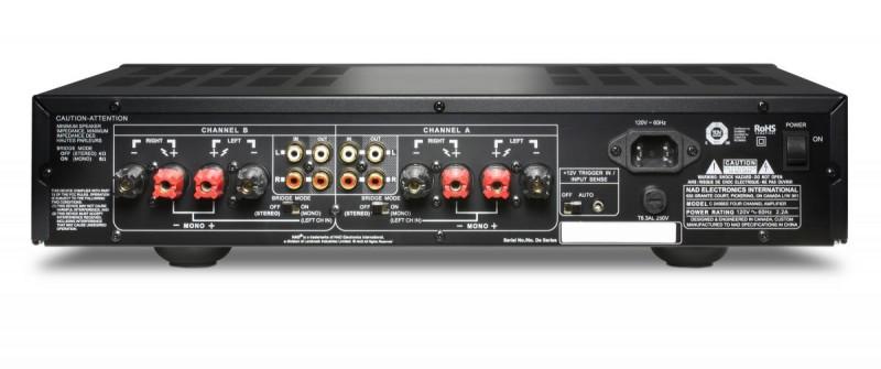 nad c245bee 4 channel power amplifier home cinema at vision living. Black Bedroom Furniture Sets. Home Design Ideas