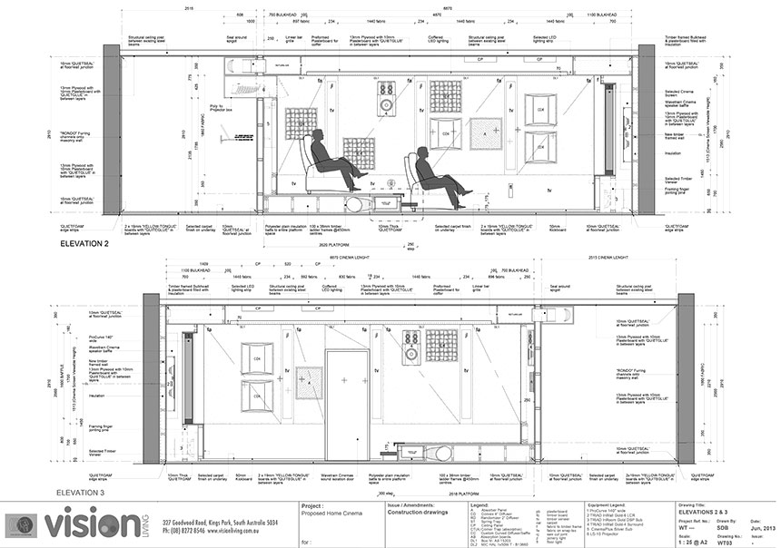 Elevation Plan Requirements : Home theatre adelaide vision living are s